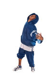 Cool young hip-hop man on white background Stock Image