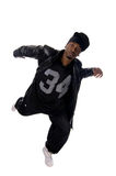 Cool young hip-hop man on white background Royalty Free Stock Photo