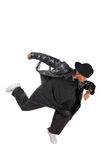 Cool young hip-hop man on white background. Cool young hip-hop dancer on white background Stock Photo