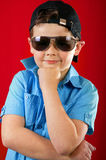 Cool young kid with glasses Royalty Free Stock Photography