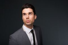 Cool young man in business suit and necktie Royalty Free Stock Images
