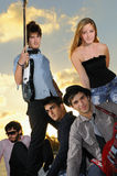 Cool young musical band posing Stock Photo