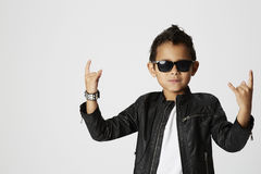 Cool young rocker Stock Images