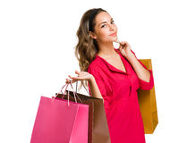 Cool young shopper. Royalty Free Stock Images