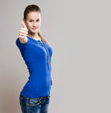 Cool young teen thumbs up. Royalty Free Stock Images