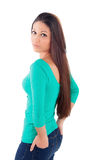 Cool young woman with long hair Stock Photography