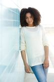Cool young woman standing outdoors Stock Photography