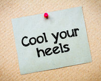 Cool your heels Royalty Free Stock Image
