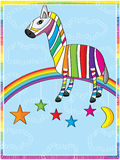 Cool Zebra Rainbow Royalty Free Stock Images