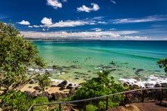 COOLANGATTA、AUS - 2017年5月01日, Coolangatta海滩和彩虹Ba 图库摄影