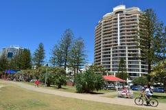 Coolangatta -英属黄金海岸昆士兰澳大利亚 免版税库存图片