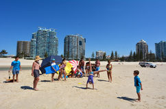 Coolangatta -英属黄金海岸昆士兰澳大利亚 免版税图库摄影