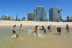 Coolangatta -英属黄金海岸昆士兰澳大利亚 库存照片