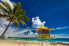 COOLANGATTA, AUS - MAY 01 2017, Snappers rock and Rainbow Bay be Royalty Free Stock Photography