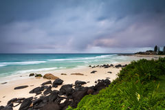 Coolangatta beach at dawn Stock Photos