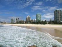 Coolangatta Beach. Gold Coast Australia stock photo