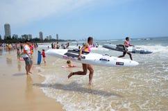 Coolangatta guld Queensland 2014 Australien Arkivbilder