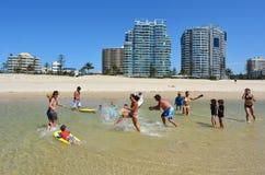 Coolangatta - złoto Brzegowy Queensland Australia Zdjęcia Stock