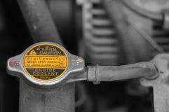 Coolant checkup automobile dirty engine bay Stock Photos