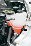 Coolant container in a car's. Engine bay Royalty Free Stock Photo