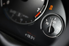 Coolant gauge. Coolant temperature gauge on a car's dashboard Royalty Free Stock Images