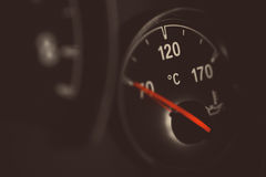 Coolant gauge. Coolant temperature gauge on a car's dashboard Royalty Free Stock Photo