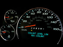 Coolant level low warning light Royalty Free Stock Photography
