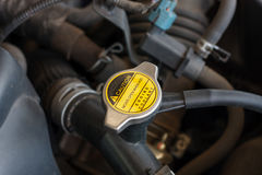 Coolant system in the car. Close up Stock Photos