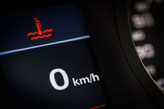 Coolant temperature symbol in a car Royalty Free Stock Images