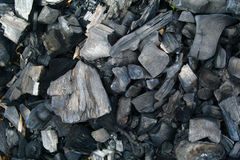 Cooled charcoal Stock Photo
