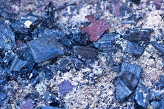 Cooled down coals from the fire Royalty Free Stock Photos