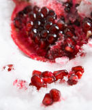 Cooled pomegranate Royalty Free Stock Photos