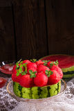 Cooled watermelon pie Royalty Free Stock Images