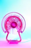 Cooler. Pink cooler on a blue background Royalty Free Stock Photography