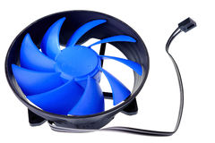 Cooler computer fan equipment with three pin. Royalty Free Stock Images