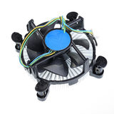 Cooler computer fan. Royalty Free Stock Photo