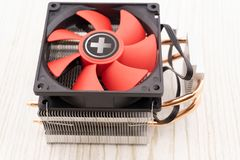 Cooler computer fan isolated on white background royalty free stock image