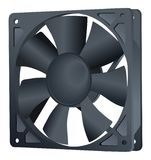 Computer cooler. PC hardware fan. Vector Icon. Isolated on White Background. Realistic. Element of computer. Cooler air. Fan blade royalty free illustration