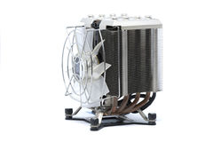 Cooler CPU fan with heat sink and cable , isolated on white back Royalty Free Stock Photos