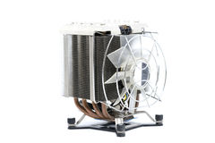 Cooler CPU fan with heat sink and cable , isolated on white back Stock Photography