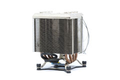 Cooler CPU fan with heat sink and cable , isolated on white back Stock Photos
