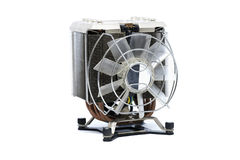 Cooler CPU fan with heat sink and cable , isolated on white back Royalty Free Stock Photo