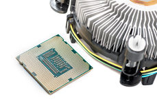 Cooler and the CPU isolation Stock Image