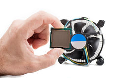 Cooler and the CPU isolation Royalty Free Stock Photos
