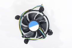 Cooler fan. On white stock images