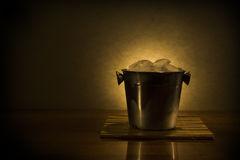 Cooler with ice Royalty Free Stock Images