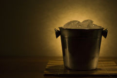 Cooler with ice Royalty Free Stock Photo