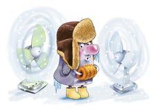 Cooler processor fan cooling computer. Cap coupling fur valenoks Stock Photo