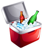 A cooler with softdrinks Royalty Free Stock Photography