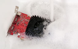 Cooler in suds Stock Photography